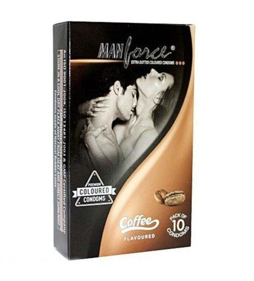 Manforce_coffee_Flavoured_Extra_Dotted_Condoms-smackdeal
