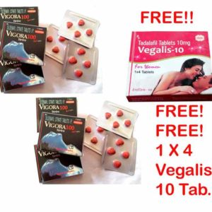 Buy Vigora 100 Tablet 6 Packs – Free 1 Pack of Vegalis 10 Tablet