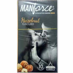 Manforce Hazelnut Flavoured Condoms Extra Dotted