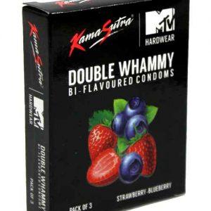 kamasutra double whammy flavored condom