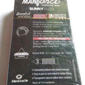 Manforce Sunny Edition Dotted Condoms 10 Pcs Private Pack