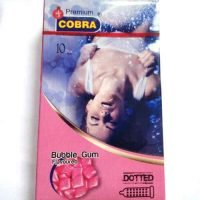 cobra premium bubble gum flavoured condoms