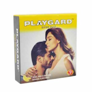 Playgard Banana Flavoured Dotted Condoms 3 Pcs Pack