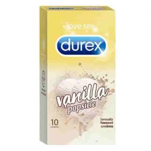 Durex Condoms Vanilla Flavoured 10 Pieces